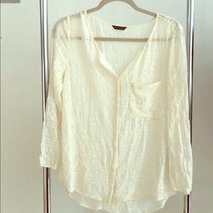 Massimo Dutti cream blouse